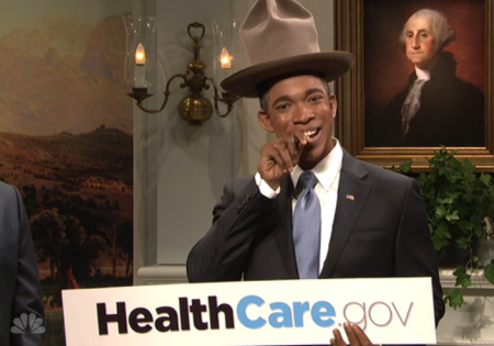 President Obama Appears On Saturday Night Live With Electronic Cigarette