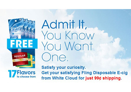 White Cloud Offering Free 'Fling' Disposable E-Cigs