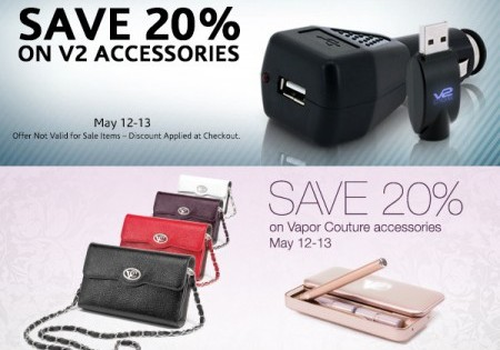SURPRISE V2 CIGS & VAPOR COUTURE ACCESSORIES SALE – 2 DAYS ONLY!