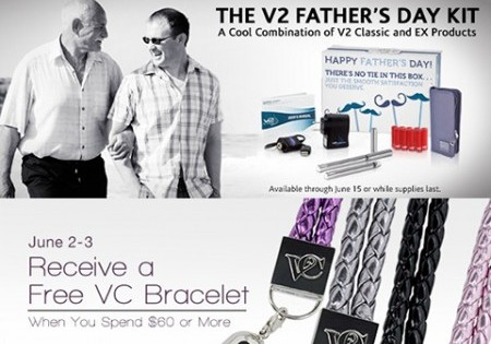 V2 Cigs Father's Day Kit Now Available, Plus A Special Offer From Vapor Couture