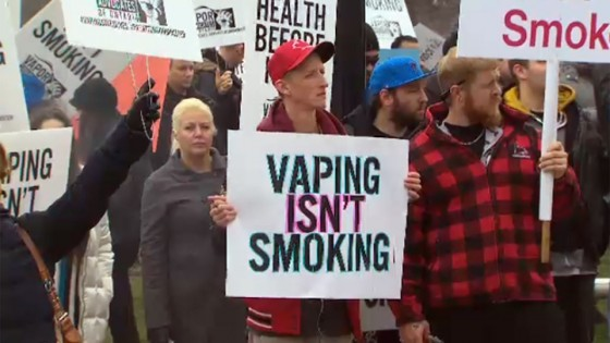 Protesters Against Ontario's Vaping Regulations